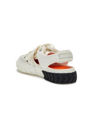 细节 - 点击放大 - BOTH - TYRES轮胎纹橡胶鞋底镂空帆布运动凉鞋
