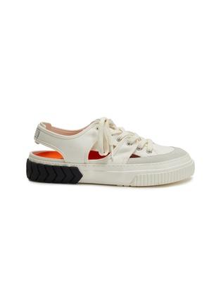 首图 - 点击放大 - BOTH - TYRES轮胎纹橡胶鞋底镂空帆布运动凉鞋