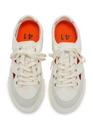 模特儿示范图 - 点击放大 - BOTH - TYRES轮胎纹橡胶鞋底镂空帆布运动凉鞋