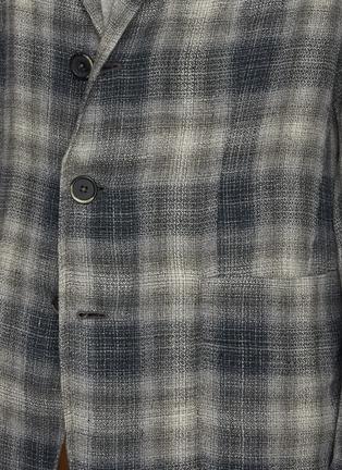 - BARENA - PIERO ROMASO拼色格纹西服外套