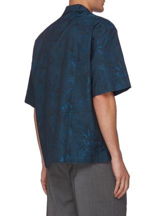 背面 - 点击放大 - BARENA - Solana拼贴口袋花卉图案短袖衬衫