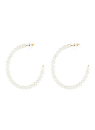 首图 - 点击放大 - LELE SADOUGHI - 淡水珍珠圆环造型开口耳环