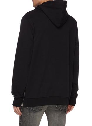 背面 - 点击放大 - BALMAIN - 标语拼色条纹oversize纯棉连帽卫衣