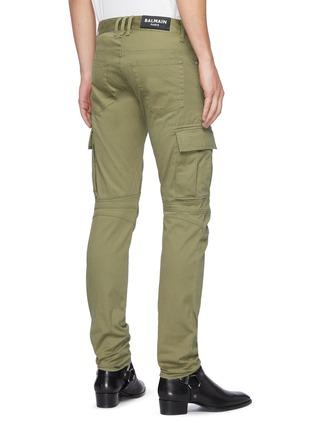 背面 - 点击放大 - BALMAIN - 翻盖口袋拉链褶裥棉质长裤