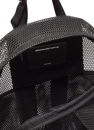 细节 - 点击放大 - ALEXANDERWANG - WANGSPORT微透视网眼双肩包