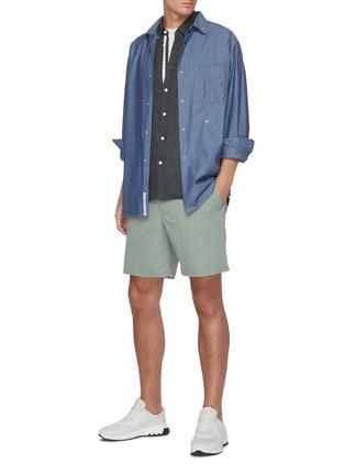模特儿示范图 - 点击放大 - RAG & BONE - Eaton松紧裤腰混棉短裤