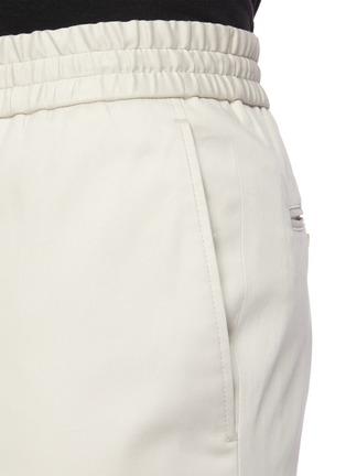 - BRIONI - Sidney抽绳裤腰棉质长裤