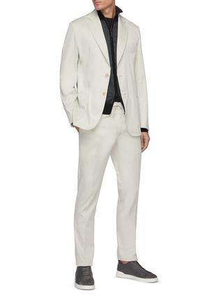 模特儿示范图 - 点击放大 - BRIONI - Sidney抽绳裤腰棉质长裤