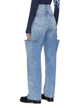 背面 - 点击放大 - MAISON MARGIELA - 切割设计高腰阔腿纯棉牛仔裤