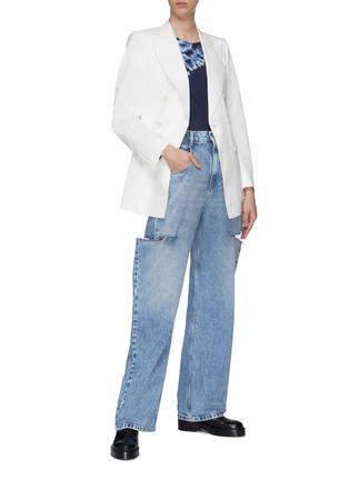 模特儿示范图 - 点击放大 - MAISON MARGIELA - 切割设计高腰阔腿纯棉牛仔裤