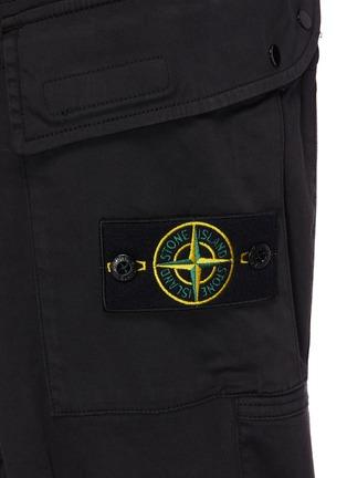 - STONE ISLAND - 可拆式品牌标志徽章松紧裤腰混棉及羊毛工装裤