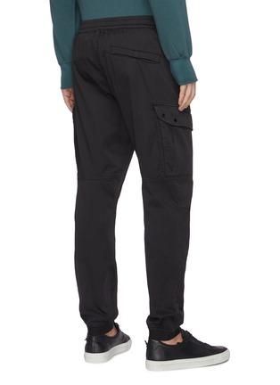 背面 - 点击放大 - STONE ISLAND - 可拆式品牌标志徽章松紧裤腰混棉及羊毛工装裤