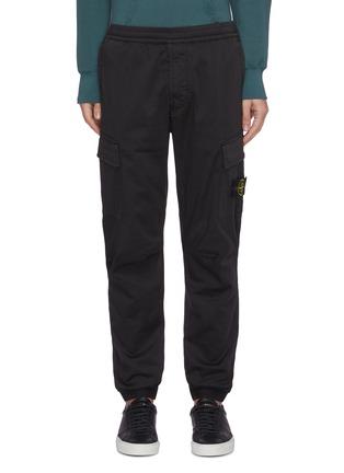 首图 - 点击放大 - STONE ISLAND - 可拆式品牌标志徽章松紧裤腰混棉及羊毛工装裤