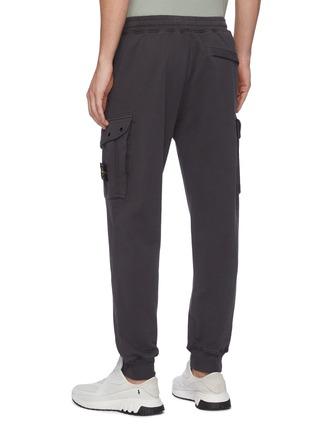 背面 - 点击放大 - STONE ISLAND - 可拆式品牌标志徽章抽绳纯棉工装休闲裤