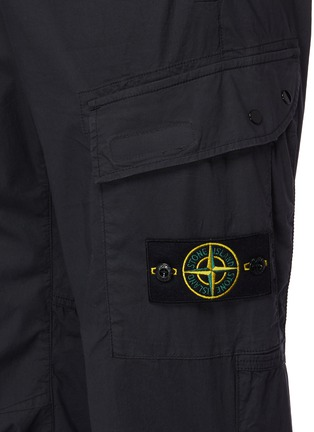 - STONE ISLAND - Tela Parachute可拆式品牌标志徽章松紧裤腰棉质工装裤
