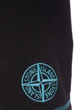 - STONE ISLAND - 拼贴线条logo纯棉休闲短裤