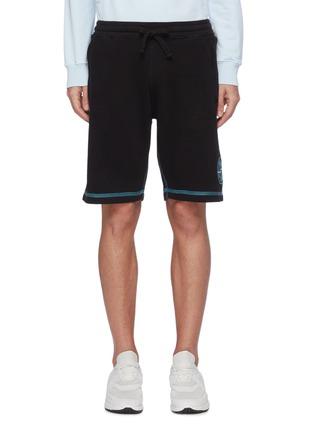 首图 - 点击放大 - STONE ISLAND - 拼贴线条logo纯棉休闲短裤