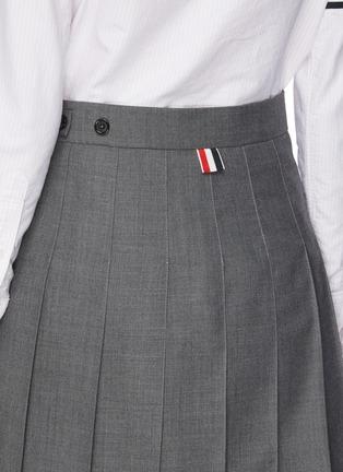 - THOM BROWNE - 拼色条纹前短后长百褶半裙