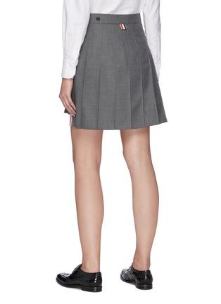 背面 - 点击放大 - THOM BROWNE - 拼色条纹前短后长百褶半裙