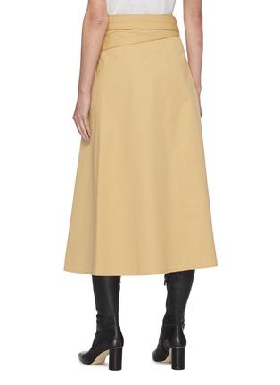 背面 - 点击放大 - LEMAIRE - 拼接搭带棉混亚麻半裙