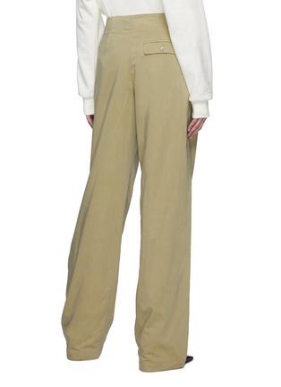 背面 - 点击放大 - LEMAIRE - 腰带褶裥棉混丝直脚长裤