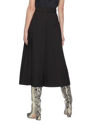 背面 - 点击放大 - LEMAIRE - 腰带褶裥露踝混棉裙裤