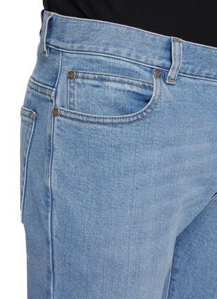 - BALMAIN - B logo水洗修身棉质牛仔裤