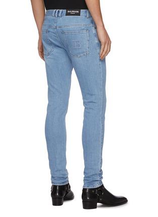 背面 - 点击放大 - BALMAIN - B logo水洗修身棉质牛仔裤