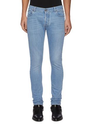 首图 - 点击放大 - BALMAIN - B logo水洗修身棉质牛仔裤