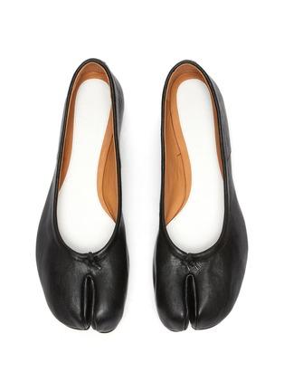 细节 - 点击放大 - MAISON MARGIELA - TABI真皮分趾平底鞋