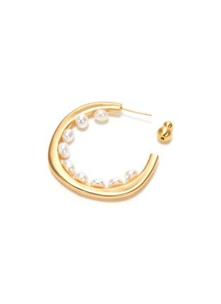 细节 - 点击放大 - CULT GAIA - GOLDIE珍珠点缀圆环造型黄铜开口耳环