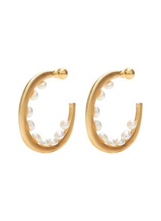首图 - 点击放大 - CULT GAIA - GOLDIE珍珠点缀圆环造型黄铜开口耳环