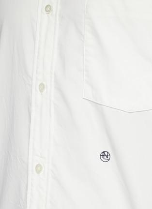 - NANAMICA - 拼贴口袋混棉短袖衬衫