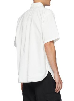 背面 - 点击放大 - NANAMICA - 拼贴口袋混棉短袖衬衫