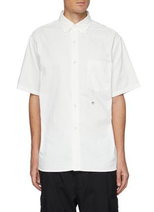 首图 - 点击放大 - NANAMICA - 拼贴口袋混棉短袖衬衫