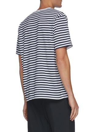 背面 - 点击放大 - NANAMICA - 拼色条纹T恤