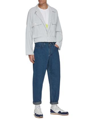 模特儿示范图 - 点击放大 - NANAMICA - 水洗直脚牛仔裤