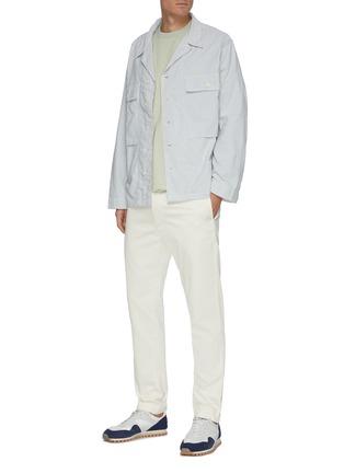 模特儿示范图 - 点击放大 - NANAMICA - 斜纹布长裤