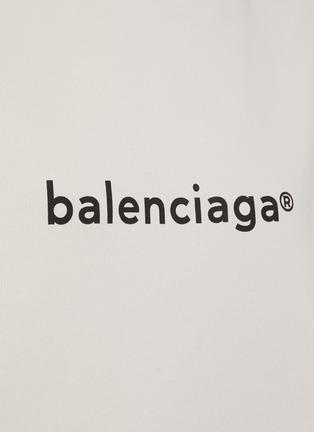 - BALENCIAGA - logo纯棉连帽卫衣