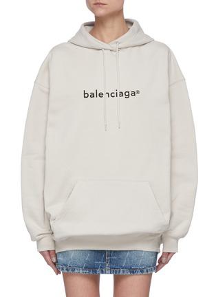首图 - 点击放大 - BALENCIAGA - logo纯棉连帽卫衣