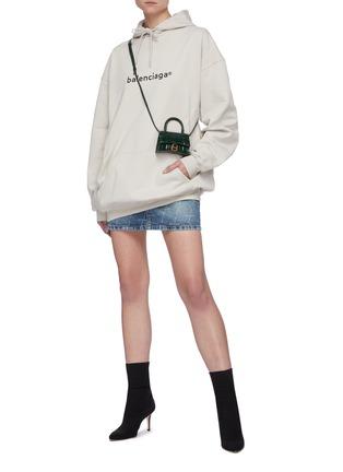 模特儿示范图 - 点击放大 - BALENCIAGA - logo纯棉连帽卫衣
