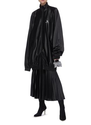 模特儿示范图 - 点击放大 - BALENCIAGA - 松紧裙腰百褶半裙