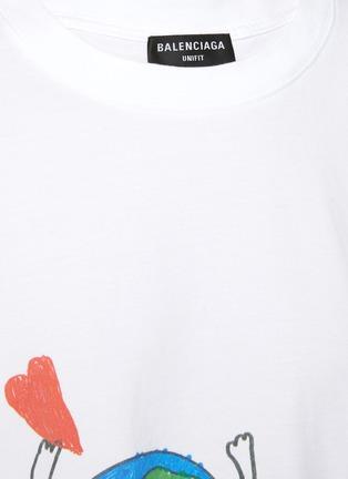 - BALENCIAGA - 趣味地球图案纯棉T恤