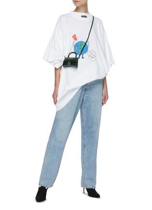 模特儿示范图 - 点击放大 - BALENCIAGA - 趣味地球图案纯棉T恤
