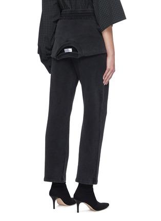 背面 - 点击放大 - BALENCIAGA - 系带纯棉休闲裤