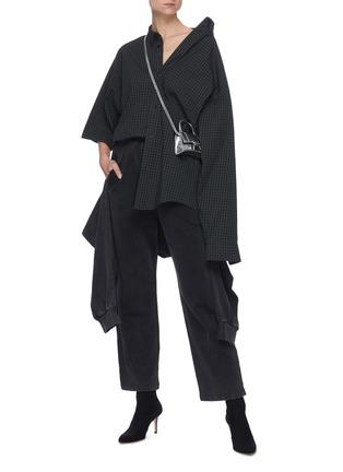 模特儿示范图 - 点击放大 - BALENCIAGA - 系带纯棉休闲裤