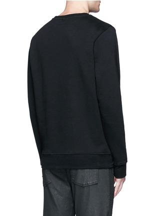 背面 - 点击放大 - MARCELO BURLON - 条纹拼接老虎胶印纯棉卫衣