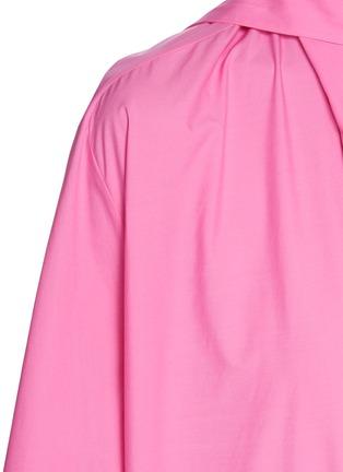 - BALENCIAGA - 领巾褶裥纯棉上衣