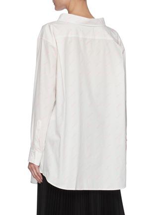 背面 - 点击放大 - BALENCIAGA - 品牌名称oversize纯棉衬衫