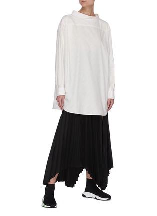 模特儿示范图 - 点击放大 - BALENCIAGA - 品牌名称oversize纯棉衬衫